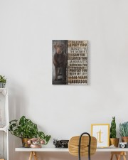 Chocolate Labrador - Before I met you 11x14 Gallery Wrapped Canvas Prints aos-canvas-pgw-11x14-lifestyle-front-03