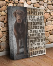 Chocolate Labrador - Before I met you 11x14 Gallery Wrapped Canvas Prints aos-canvas-pgw-11x14-lifestyle-front-18