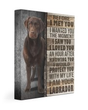 Chocolate Labrador - Before I met you 11x14 Gallery Wrapped Canvas Prints front