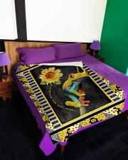 "Frog - You are my sunshine Large Fleece Blanket - 60"" x 80"" aos-coral-fleece-blanket-60x80-lifestyle-front-01"