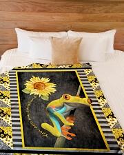 "Frog - You are my sunshine Large Fleece Blanket - 60"" x 80"" aos-coral-fleece-blanket-60x80-lifestyle-front-02"