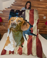 "Beautiful Beagle Large Fleece Blanket - 60"" x 80"" aos-coral-fleece-blanket-60x80-lifestyle-front-04"