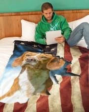 "Beautiful Beagle Large Fleece Blanket - 60"" x 80"" aos-coral-fleece-blanket-60x80-lifestyle-front-06"