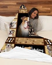 "English Bulldog - Look into their eyes Large Fleece Blanket - 60"" x 80"" aos-coral-fleece-blanket-60x80-lifestyle-front-03"