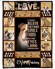"English Bulldog - Look into their eyes Large Fleece Blanket - 60"" x 80"" front"