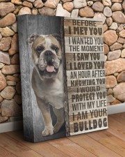 English Bulldog - Before I met you 11x14 Gallery Wrapped Canvas Prints aos-canvas-pgw-11x14-lifestyle-front-18