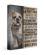 English Bulldog - Before I met you 11x14 Gallery Wrapped Canvas Prints front