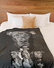 "Pit Bull - I love Pit Bulls Large Fleece Blanket - 60"" x 80"" aos-coral-fleece-blanket-60x80-lifestyle-front-02"