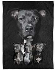 "Pit Bull - I love Pit Bulls Large Fleece Blanket - 60"" x 80"" front"