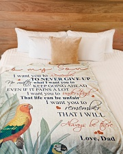 """To my son - I will always be there Large Fleece Blanket - 60"""" x 80"""" aos-coral-fleece-blanket-60x80-lifestyle-front-02"""