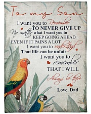 """To my son - I will always be there Large Fleece Blanket - 60"""" x 80"""" front"""