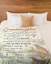 """Nana to my granddaughter - I'm always beside you Large Fleece Blanket - 60"""" x 80"""" aos-coral-fleece-blanket-60x80-lifestyle-front-02"""