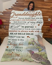 """Nana to my granddaughter - I'm always beside you Large Fleece Blanket - 60"""" x 80"""" aos-coral-fleece-blanket-60x80-lifestyle-front-04"""