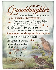 """Nana to my granddaughter - I'm always beside you Large Fleece Blanket - 60"""" x 80"""" front"""