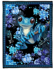 "I love frogs Large Fleece Blanket - 60"" x 80"" front"