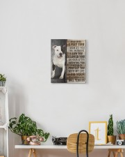 Staffordshire Bull Terrier - Before I met you 11x14 Gallery Wrapped Canvas Prints aos-canvas-pgw-11x14-lifestyle-front-03