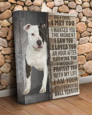 Staffordshire Bull Terrier - Before I met you 11x14 Gallery Wrapped Canvas Prints aos-canvas-pgw-11x14-lifestyle-front-18