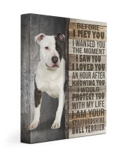 Staffordshire Bull Terrier - Before I met you 11x14 Gallery Wrapped Canvas Prints front