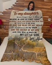 """To my daughter - Never forget that I love you Large Fleece Blanket - 60"""" x 80"""" aos-coral-fleece-blanket-60x80-lifestyle-front-04"""