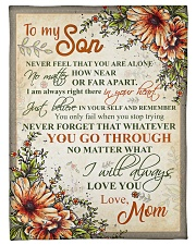 """To my son - Never feel that you are alone Small Fleece Blanket - 30"""" x 40"""" front"""