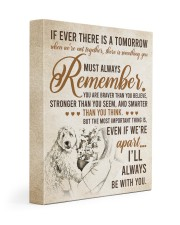 Goldendoodle - You are braver than you believe 11x14 Gallery Wrapped Canvas Prints front