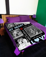 "English Bulldog - Love Large Fleece Blanket - 60"" x 80"" aos-coral-fleece-blanket-60x80-lifestyle-front-01"