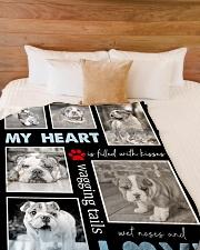 "English Bulldog - Love Large Fleece Blanket - 60"" x 80"" aos-coral-fleece-blanket-60x80-lifestyle-front-02"
