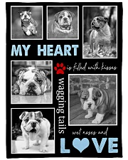 "English Bulldog - Love Large Fleece Blanket - 60"" x 80"" front"