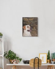 Yellow Labrador -  My mind still talks to you 11x14 Gallery Wrapped Canvas Prints aos-canvas-pgw-11x14-lifestyle-front-03