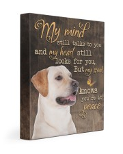 Yellow Labrador -  My mind still talks to you 11x14 Gallery Wrapped Canvas Prints front