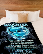 """To my daughter - I'll always be with you Large Fleece Blanket - 60"""" x 80"""" aos-coral-fleece-blanket-60x80-lifestyle-front-02"""