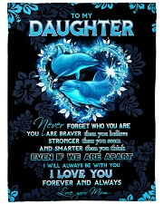 """To my daughter - I'll always be with you Large Fleece Blanket - 60"""" x 80"""" front"""