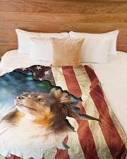 "Beautiful Sheltie Large Fleece Blanket - 60"" x 80"" aos-coral-fleece-blanket-60x80-lifestyle-front-02"