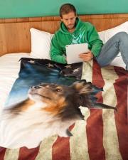 "Beautiful Sheltie Large Fleece Blanket - 60"" x 80"" aos-coral-fleece-blanket-60x80-lifestyle-front-06"