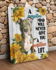 Pit Bull - Positive mind 11x14 Gallery Wrapped Canvas Prints aos-canvas-pgw-11x14-lifestyle-front-18