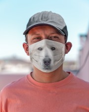 Amazing Great Pyrenees Cloth face mask aos-face-mask-lifestyle-06