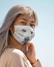 Amazing Great Pyrenees Cloth face mask aos-face-mask-lifestyle-19