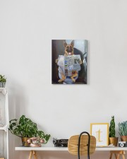 German Shepherd - Good morning 11x14 Gallery Wrapped Canvas Prints aos-canvas-pgw-11x14-lifestyle-front-03