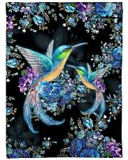 "I love hummingbirds Large Fleece Blanket - 60"" x 80"" front"