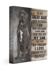 Great Dane - You are my son 11x14 Gallery Wrapped Canvas Prints front