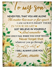 """To my son - I will always love you Small Fleece Blanket - 30"""" x 40"""" front"""