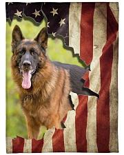"""Beautiful German shepherd and flag Large Fleece Blanket - 60"""" x 80"""" front"""