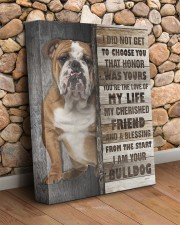 English Bulldog - The love of my life 11x14 Gallery Wrapped Canvas Prints aos-canvas-pgw-11x14-lifestyle-front-18