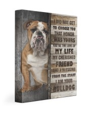 English Bulldog - The love of my life 11x14 Gallery Wrapped Canvas Prints front