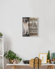 St Bernard - I am your friend 11x14 Gallery Wrapped Canvas Prints aos-canvas-pgw-11x14-lifestyle-front-03