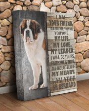 St Bernard - I am your friend 11x14 Gallery Wrapped Canvas Prints aos-canvas-pgw-11x14-lifestyle-front-18