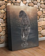 Great Dane Reflection 11x14 Gallery Wrapped Canvas Prints aos-canvas-pgw-11x14-lifestyle-front-18