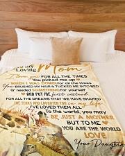 """To my loving mom - You are the world to me Large Fleece Blanket - 60"""" x 80"""" aos-coral-fleece-blanket-60x80-lifestyle-front-02"""