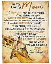 """To my loving mom - You are the world to me Large Fleece Blanket - 60"""" x 80"""" front"""