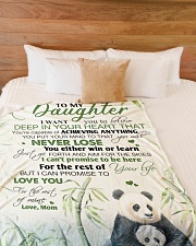 """To my daughter - I promise that I love you forever Large Fleece Blanket - 60"""" x 80"""" aos-coral-fleece-blanket-60x80-lifestyle-front-02"""